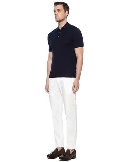 Caruso Pantolon Beyaz